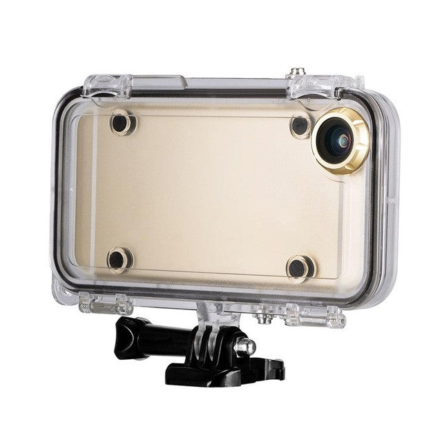 Waterproof Case + 170 Degrees Wide Angle Lens iPhone 6 & 6s