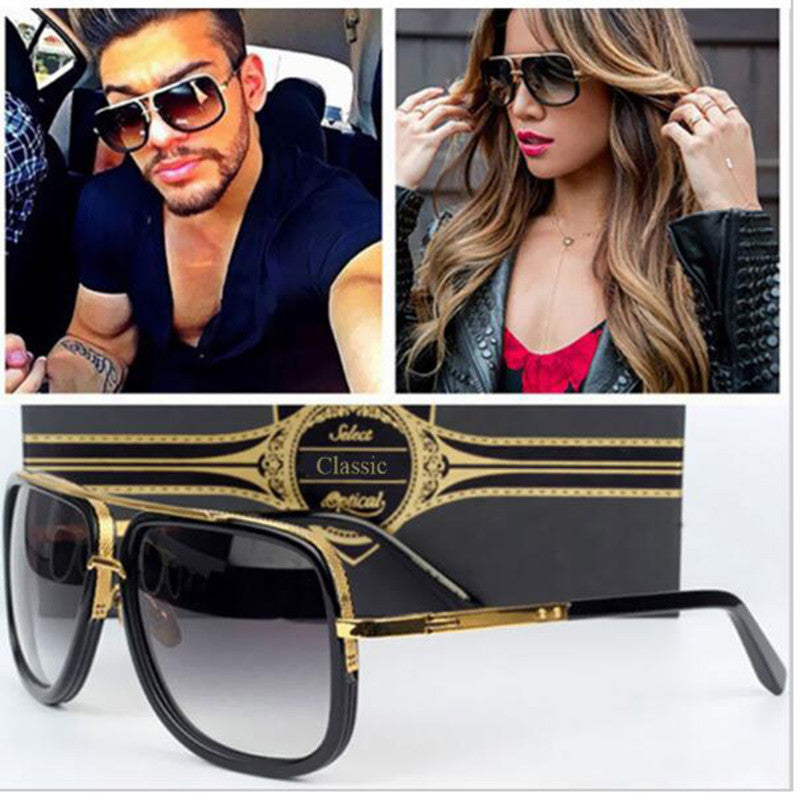 Black and Gold Rim Sunglasses