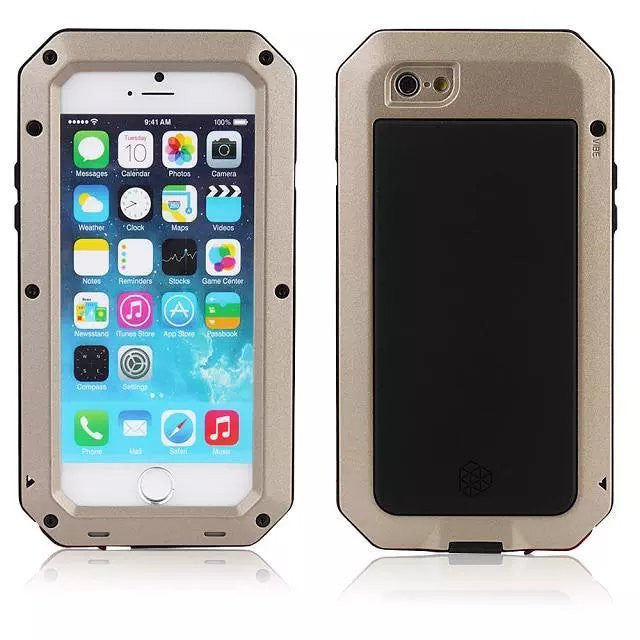 Waterproof Shockproof Aluminum Metal Phone Cover Case For iPhone