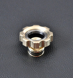 LoopHole Spinner - Brass T-8 Machined Knurl - Without Core