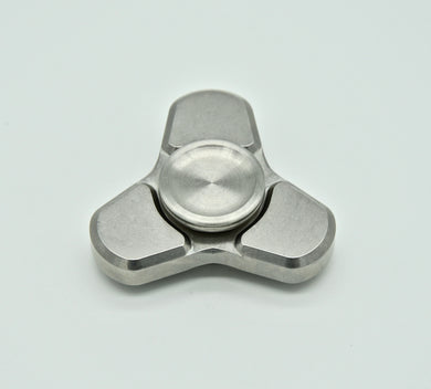 Dot³ Spinner - Tumbled Stainless