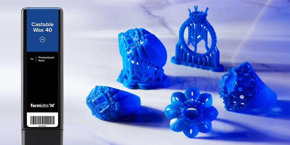 New Formlabs Resin: Castable Wax 40