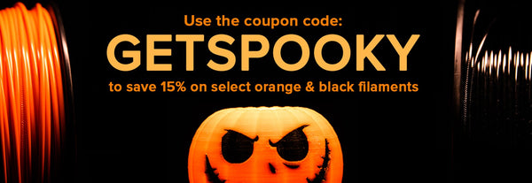 GetSpooky: Save 15% on Select Orange & Black Filaments