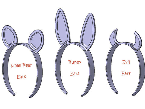 Bunny and bear ears or devil headband