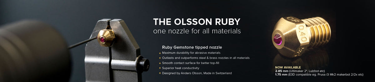 Olsson Ruby Nozzle now available in Canada at Shop3D.ca