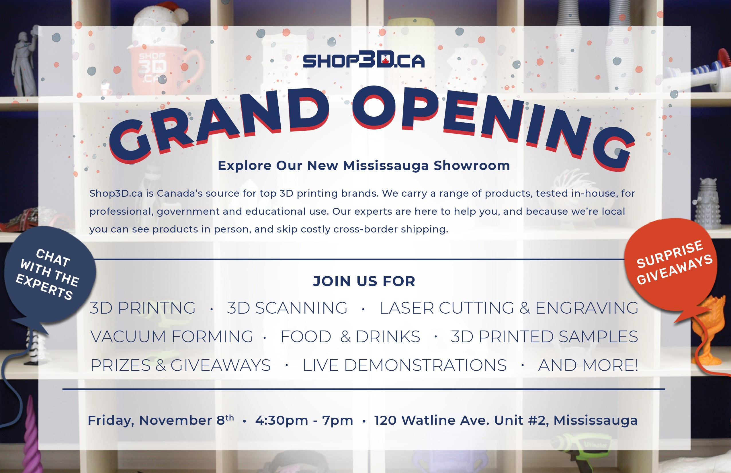 Shop3D.ca Mississauga Grand Opening