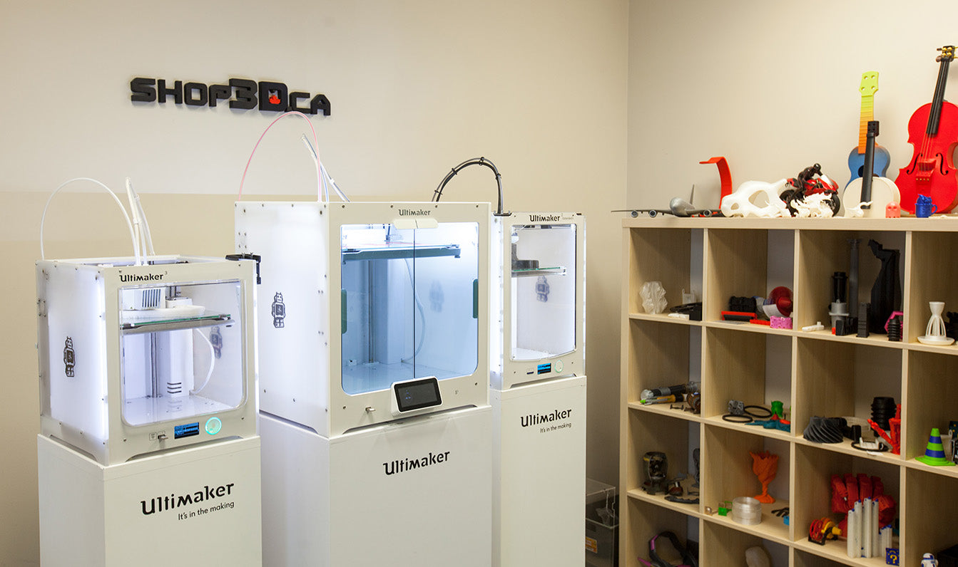 Ultimaker 3D Printers at Shop3D.ca Brampton