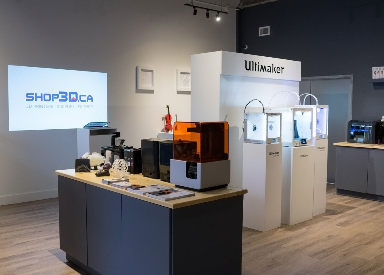 Ultimaker and Formlabs 3D Printers at Shop3D.ca Vancouver