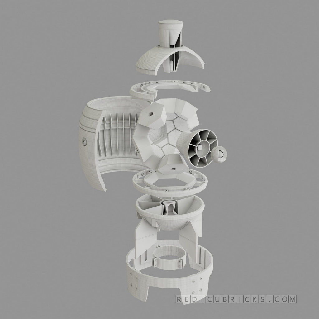 Fallout 4 Inspired Mini Nuke with Internals (raw print model kit)