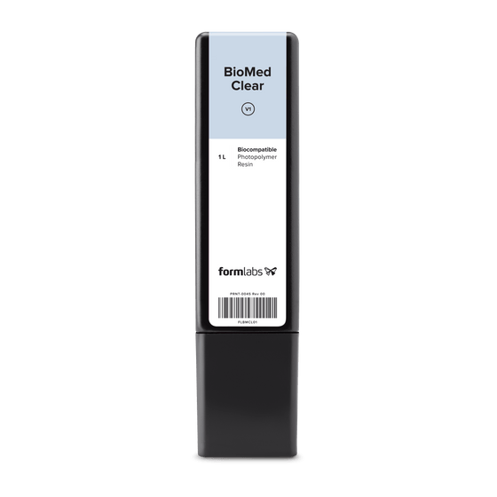 Formlabs BioMed Clear Resin Cartridge (1 Litre OEM) (Pre-order)