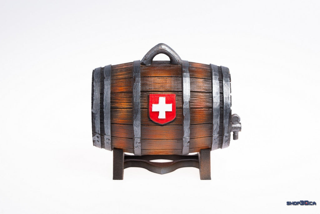 3D Printed Whiskey Barrel for Dogs/Pets (Finished and Painted-Non Custom)