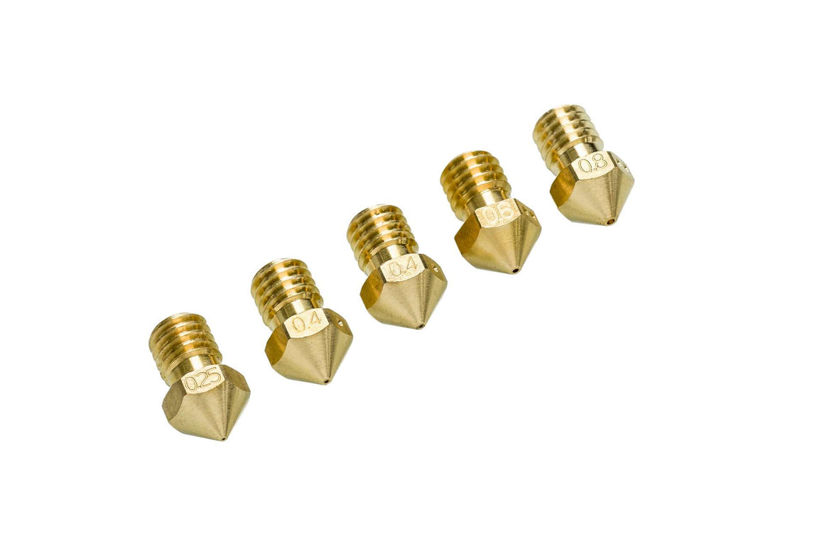 Ultimaker All Size Nozzle Pack for Ultimaker 2+ Family (0.25, 0.4 x 2, 0.6, 08.mm)