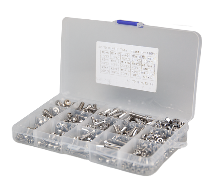 460 Piece Stainless Steel Metric Nuts and Bolts Pack - 3D Printing Accessories
