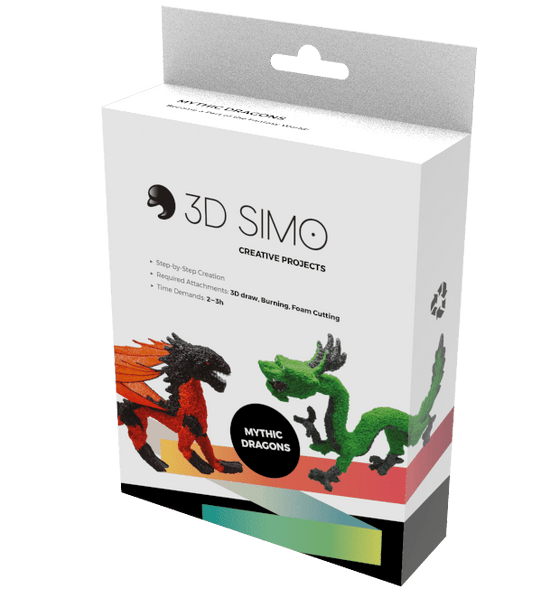 3D Pen Project - 3Dsimo Creative Box - Dragon