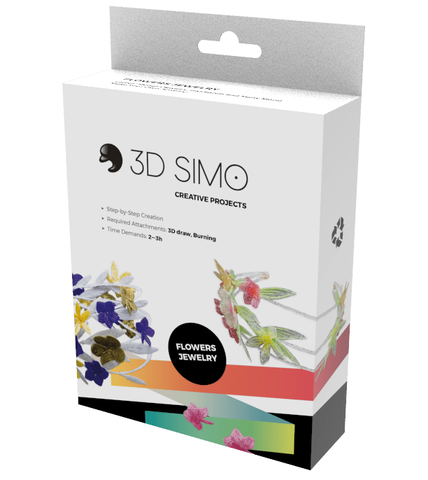 3D Pen Project - 3Dsimo Creative Box -  Jewellery