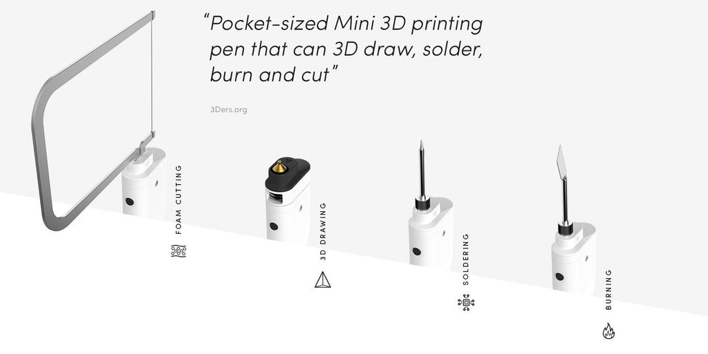 3Dsimo Mini 2 - 3D Printing Pen + Tips