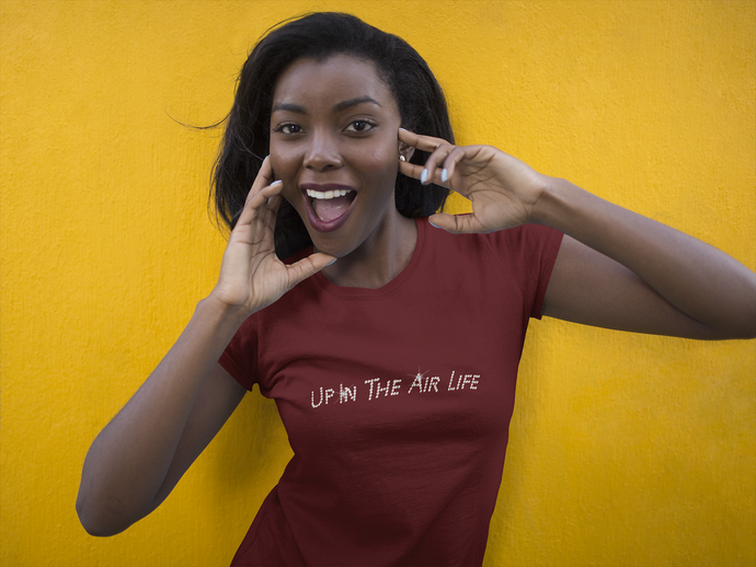Women's Sliver Bling Up in the Air Life Tee