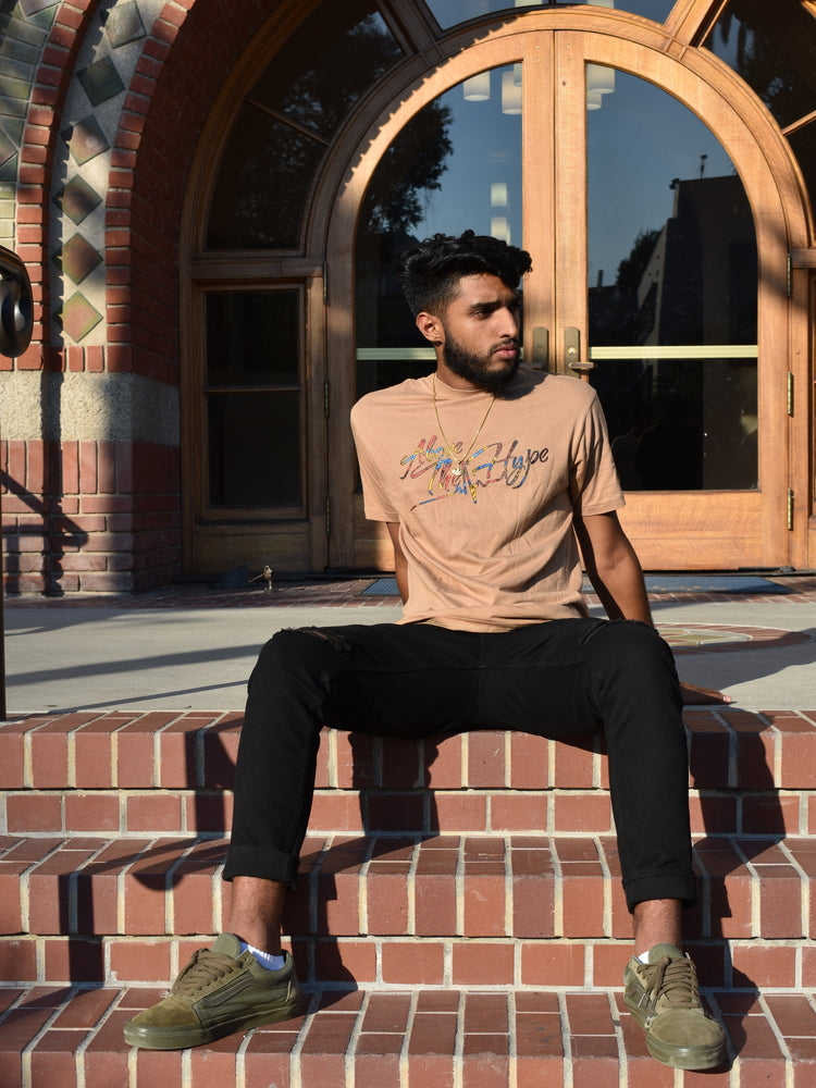 Brown ATHxPhulkari Tee