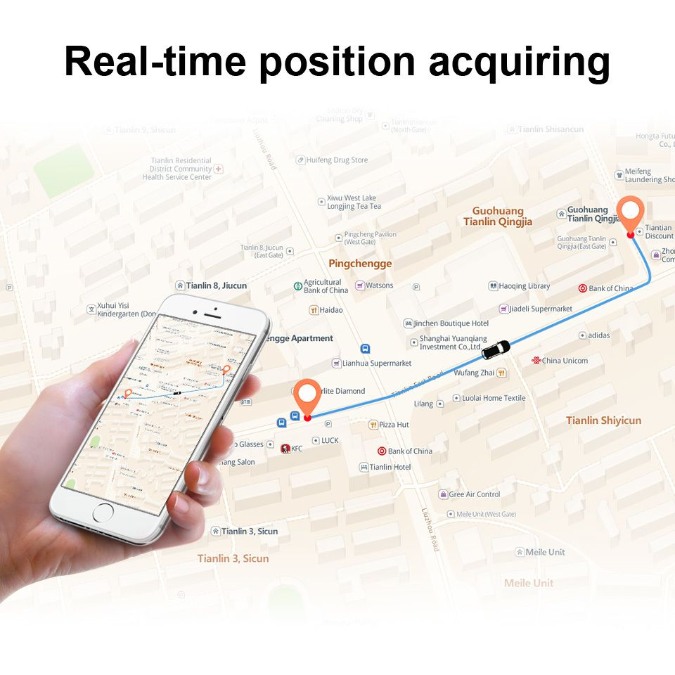 MP90 vehicle tracker - real-time position acquiring