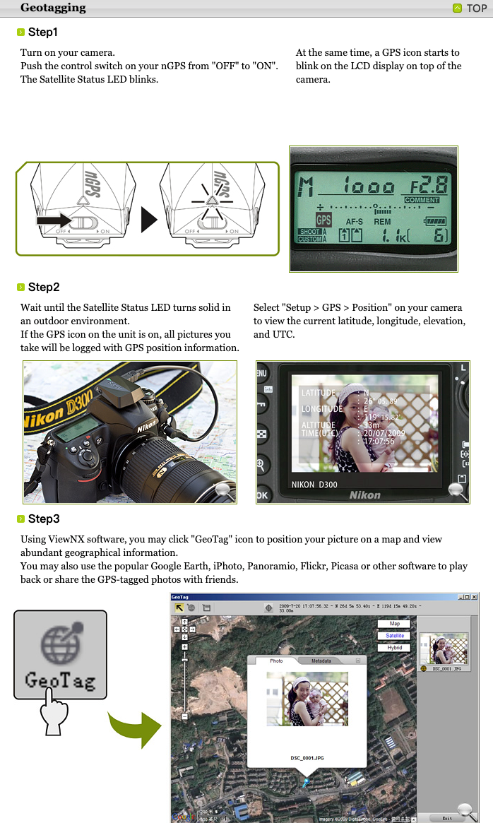 Direct Connect Geotagging GPS Unit for Nikon /& Fujifilm Digital SLRs Columbus nGPS GPS and Remote Cord Combo