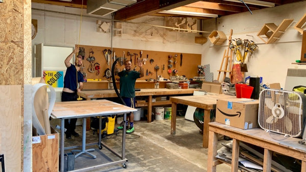 Would Works Artisans are Artists in Residence at Lehrer Architects LA!