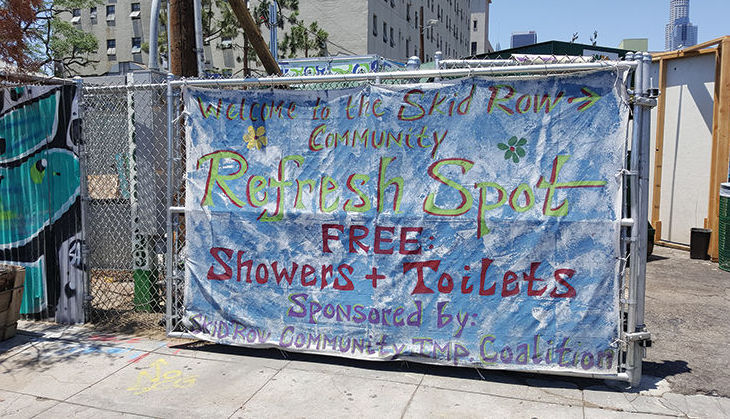 Refresh spot homeless services skid row would works