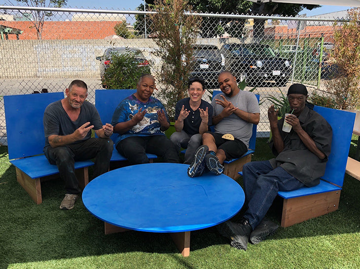 would works custom outdoor furniture for skid row refresh spot