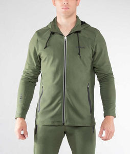 Men's BioFleet Training Full Zip Jacket (Au17) Olive Green