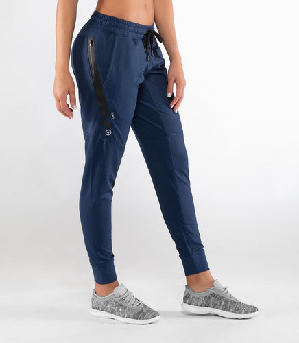 Au26 | BioCeramic™ IconX Performance Track Pants | Navy/Silver UNISEX