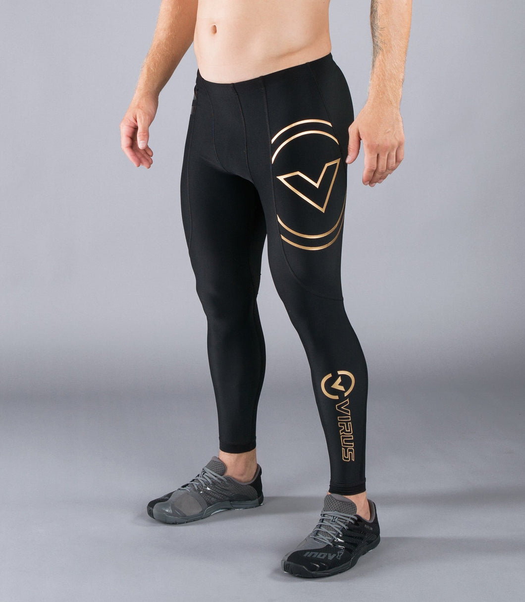 Au9 | BioCeramic™ V2 Compression Pants | Black/Gold