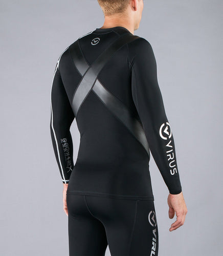 Co12X | CoolJade™ Long Sleeve X-Form Compression Top | Black