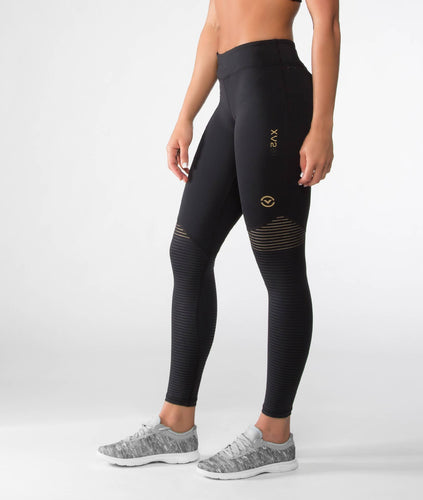 EAu7X | BioCeramic™ V3 Compression Leggings | Black/Gold