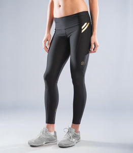 Women's Recovery Compression Pants (EAu7) Black/Gold