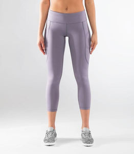ECo28 | CoolJade™ 7/8 Compression Leggings | Night Shade/Lavender
