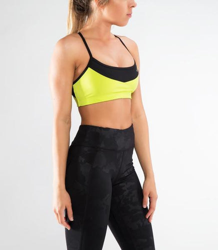 ECo35 | CoolJade™ Eclipse Sports Bra | Lime Punch/Black
