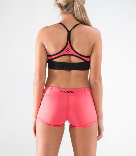 ECo35 | CoolJade™ Eclipse Sports Bra | Black/Teaberry