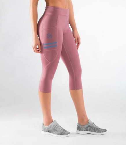 ECo24 | CoolJade™ Power Crop Compression Leggings | Rose Brown
