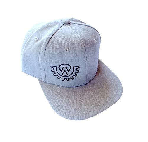 Wod Gear Snapback Hat Grey