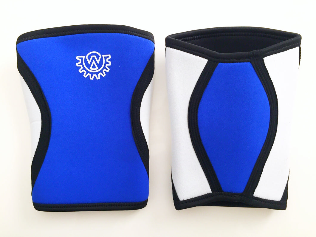 Wod Gear 7mm Knee Sleeves Blue/White