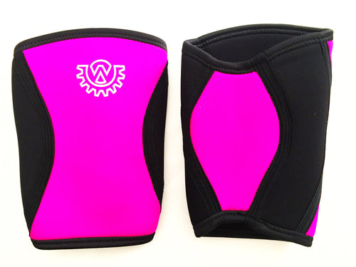 Wod Gear 7mm Knee Sleeves Pink/Black (Pair)