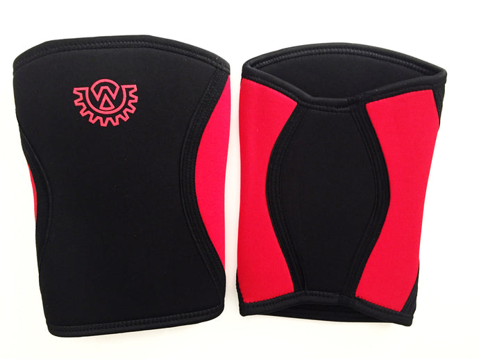 Wod Gear 7mm Knee Sleeves Black/Red