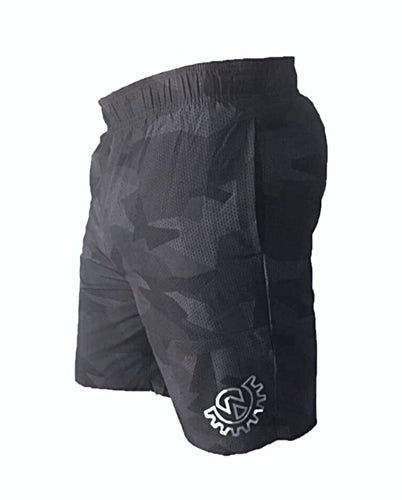 Wod Gear Men's Tech Shorts Grey Camo