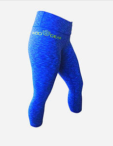 Wod Gear Ladies 3/4 Tights Blue Tye