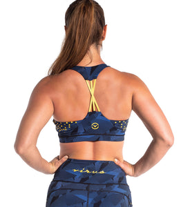 Multiverse Sports Bra | Geo Blue/Yellow