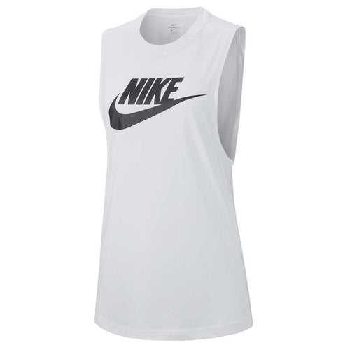 Nike Women's Essential Muscle Tank - White/Black