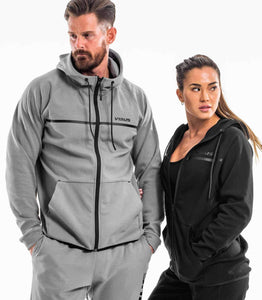 BioFleet Full Zip Jacket | Grey Unisex | ST17