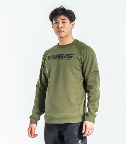 ST18 | Fleece VP Crew Neck Sweater | OD Green/Black UNISEX