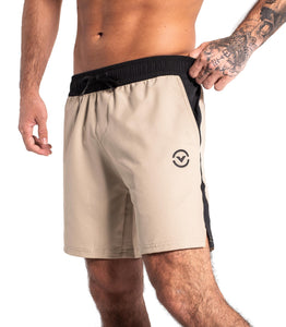 ST26 Swift Shorts | Beige/Black