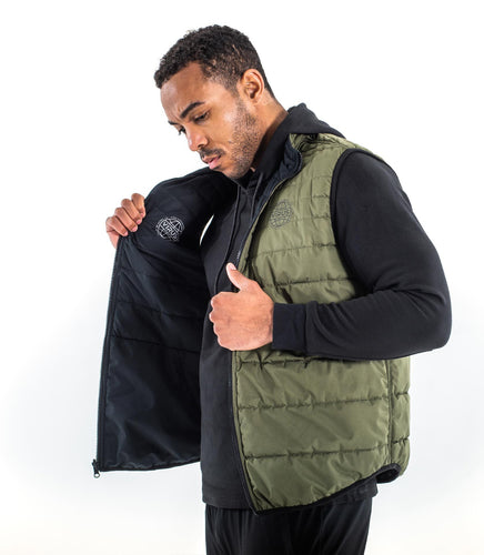 Everest Reversible Vest | Black/OD Green | ST30