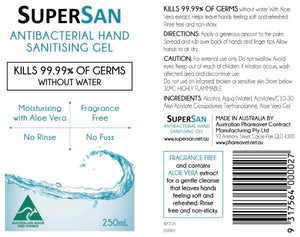 SuperSan Hand Sanitising Gel 250ml